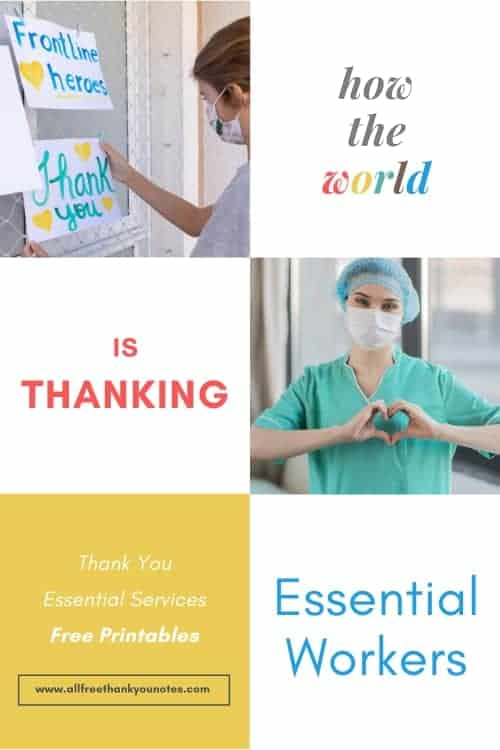 How the World is Thanking Essential Workers - All Free Thank You Notes