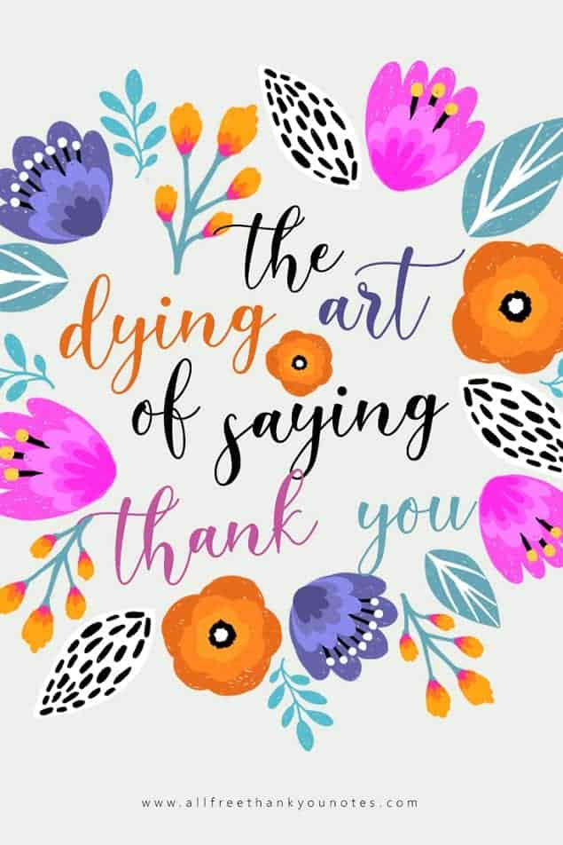 The Dying Art of Saying Thank You