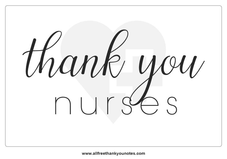 thank you nurses modern minimal note black white
