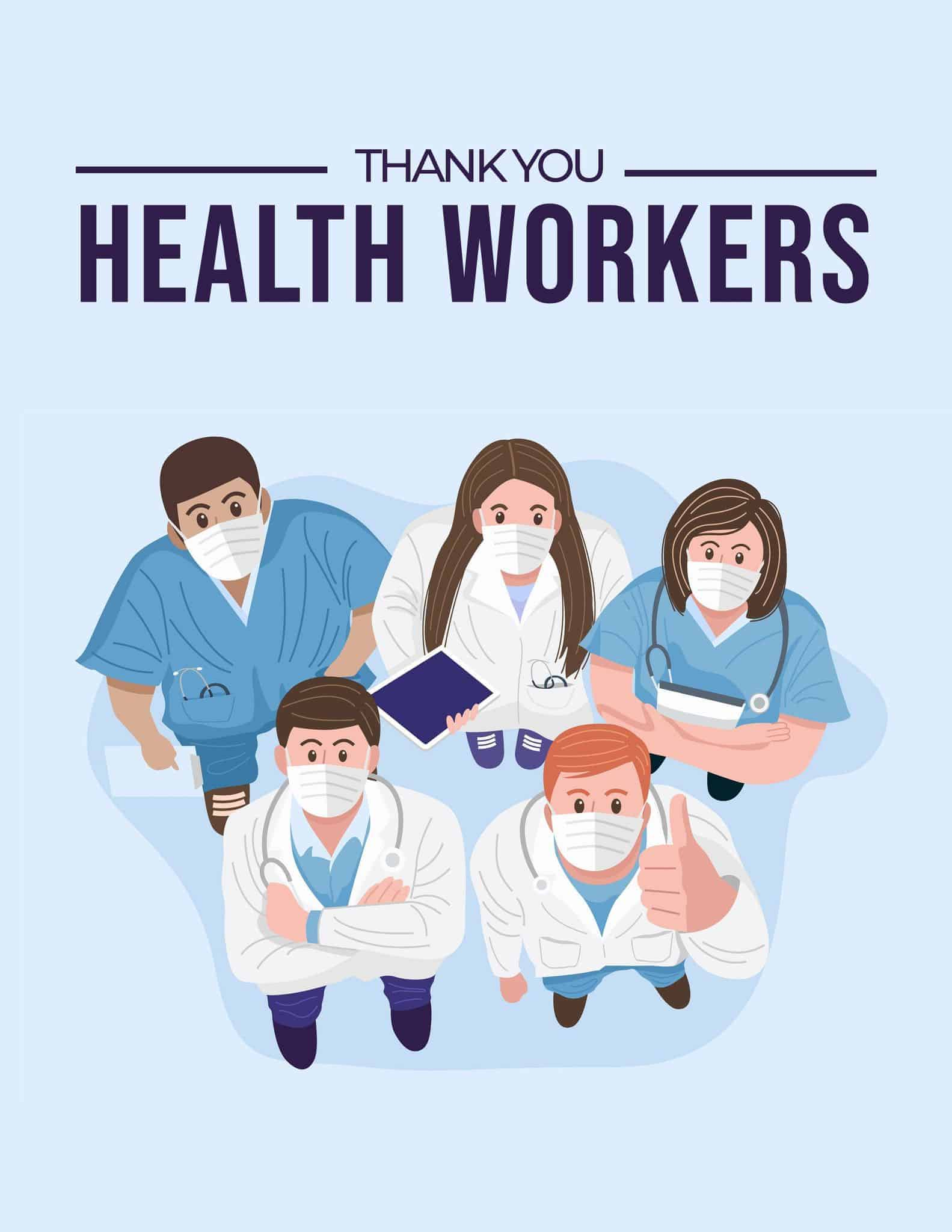 Thank You Health Workers - Nurse Doctor Pharmacist - All Free Thank You Notes