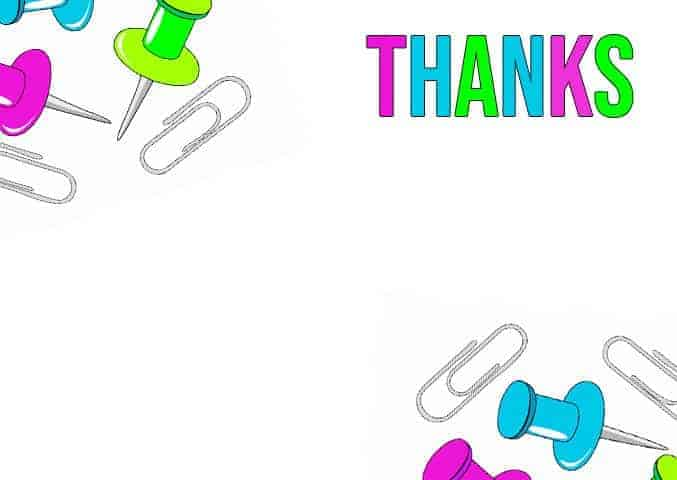 Thank You at Work - All Free Thank You Notes