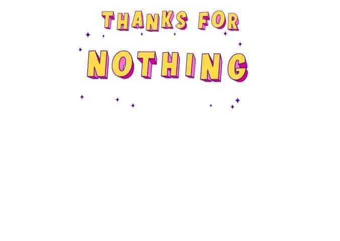 Thanks for Nothing - All Free Thank You Notes