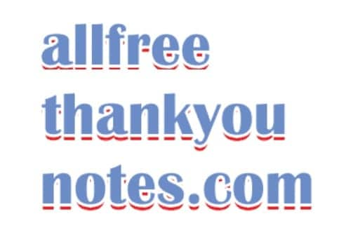 All Free Thank You Notes