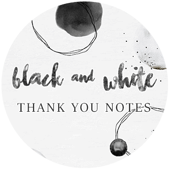 Black and White Thank You Notes - Assorted Designs