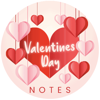 Valentines Themed Thank You Notes